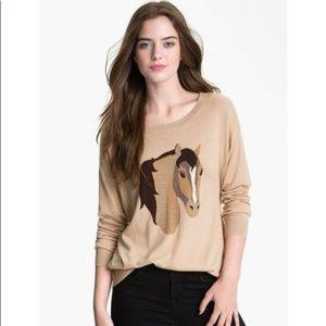 Joie Wool cashmere blend Eloisa horse sweater M
